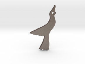 Seagull in Polished Bronzed Silver Steel