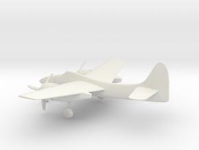 Grumman F7F Tigercat in White Natural Versatile Plastic: 1:160 - N