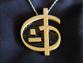 Zoran's Equation Pendant in Natural Brass