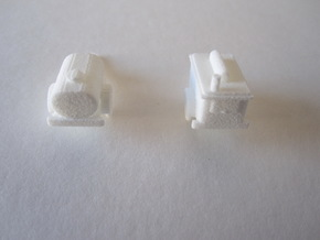1/144 Trailerset (German power trailer + US water) in White Strong & Flexible