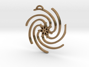 Seven Lines III - Spiral Star in Natural Brass