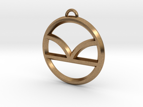 Kingsman Pendant in Natural Brass