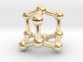 0628 Adamantane (Ball-and-stick model without H) in 14K Yellow Gold