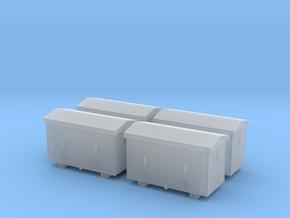 TJ-H04651x4 - Caisses à piles acier galvanisé gran in Smooth Fine Detail Plastic