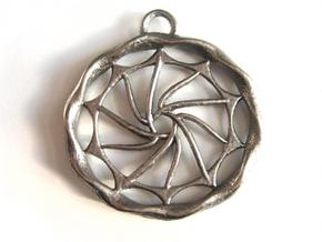 Sun Medallion in Polished Bronzed Silver Steel