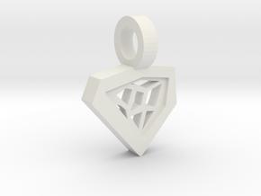 Architect Pendant in White Natural Versatile Plastic