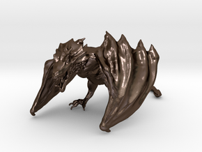 Game Of Thrones Dragon (large) in Polished Bronze Steel