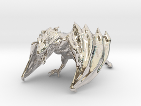 Game Of Thrones Dragon (large) in Rhodium Plated Brass