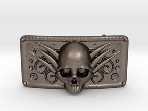 Belt Buckle in Polished Bronzed Silver Steel