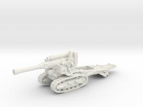 B-4 Soviet howitzer (Russia)-tractor 1/87 in White Natural Versatile Plastic