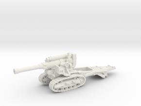 B-4 Soviet howitzer (Russia)-tractor 1/100 in White Natural Versatile Plastic