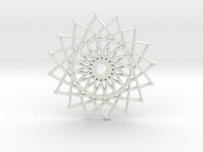 Internal Sun in White Natural Versatile Plastic