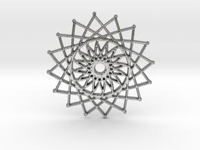 Internal Sun in Natural Silver