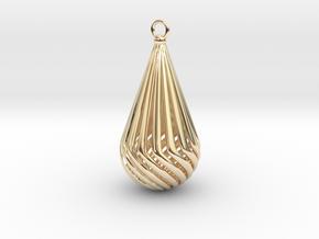 Teardrop  in 14k Gold Plated Brass