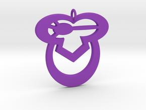 Sleepy Owl in Purple Processed Versatile Plastic