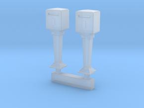 TJ-H01115x2 - Boites aux lettres sur pied in Smooth Fine Detail Plastic