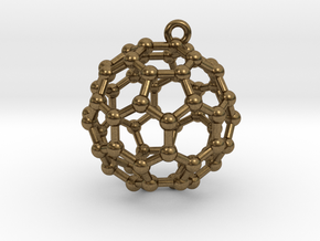 BuckyBall C60 Earring, Silver, 1.7cm in Natural Bronze