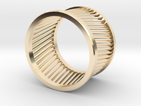Bague 2 in 14k Gold Plated Brass: 9 / 59