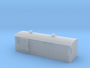 NSR 4wheel Passenger Brake Van - 4mm scale in Smooth Fine Detail Plastic