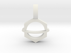 Planet Pendant 2 in White Natural Versatile Plastic