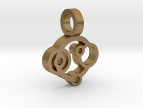 Rings Pendant in Polished Gold Steel