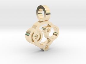 Rings Pendant in 14K Yellow Gold