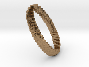 archetype - wedding ring in Natural Brass: 7.75 / 55.875