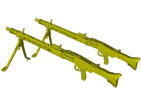 1/10 scale WWII Wehrmacht MG-42 machineguns x 2 in Smooth Fine Detail Plastic