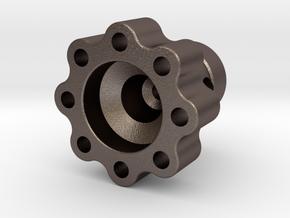Torque Meter - Head 1.1 in Polished Bronzed Silver Steel