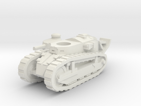 Renault FT tank (French) 1/100 in White Natural Versatile Plastic
