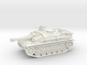 Sturmgeschutz III tank (Germany) 1/100 in White Natural Versatile Plastic