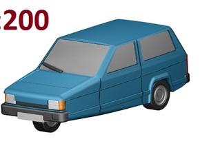 Reliant Robin (1:200) in Frosted Ultra Detail