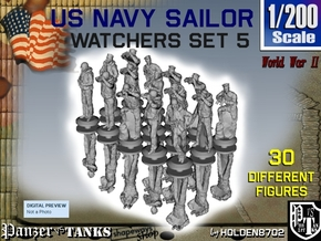 1/200 US Navy Watchers Set 5 in Smoothest Fine Detail Plastic