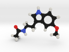 Melatonin Molecule Model. 3 Sizes. in Full Color Sandstone: 1:10