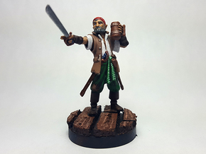 Half Elf Pirate in Smooth Fine Detail Plastic