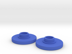 Spinner Caps (Pair) in Blue Strong & Flexible Polished