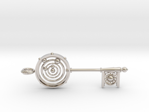 Key To The Universe in Rhodium Plated Brass