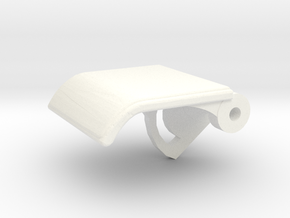Rear Seat Release Handle in White Strong & Flexible Polished