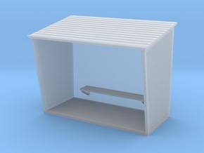 TJ-H01130 - Abribus beton, grand in Smooth Fine Detail Plastic