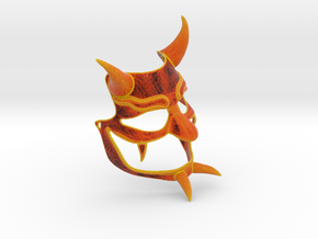 Kabuki Demon Mask in Full Color Sandstone