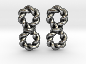 Twistfinity Earrings in Polished Silver