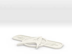 St Twok Badge in White Strong & Flexible