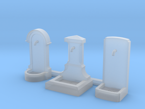 TJ-H01185 - Bornes fontaines in Smooth Fine Detail Plastic