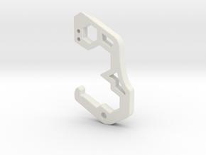 "Mini EDC Carabiner 8mm 10mm 12mm 1/4"" in White Natural Versatile Plastic"
