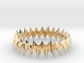 Small Bracelet WB - Origami Inspired Design   in 14k Gold Plated Brass