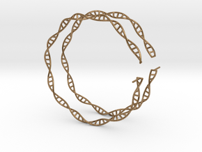 """Double Helix 75 mm (3"""") Hoops in Natural Brass"""
