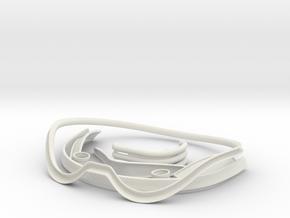 Stormtrooper Helmet Trim Parts in White Natural Versatile Plastic
