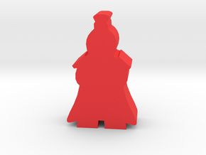 Game Piece, Ancient China General in Red Processed Versatile Plastic