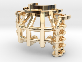 MPP2.0 Sith Master Chassis - Part2 CCinsert1 in 14k Gold Plated Brass