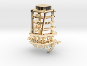 MPP2.0 Sith Master Chassis - Part3 CCinsert2 in 14k Gold Plated Brass